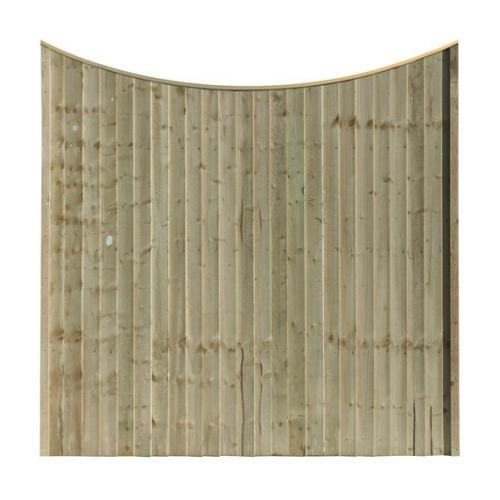 SCOLLOPED FEATHER EDGE FENCE PANEL PANEL (MADE TO ORDER)