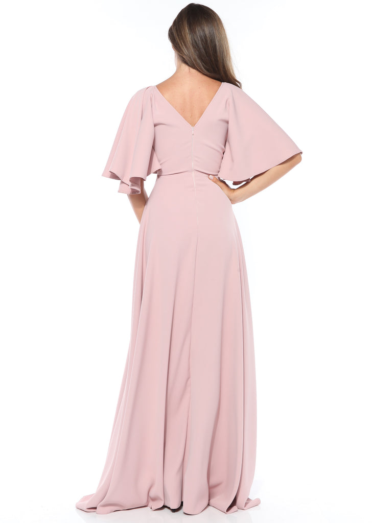 ROSERRY wrap top detail maxi dress in pink