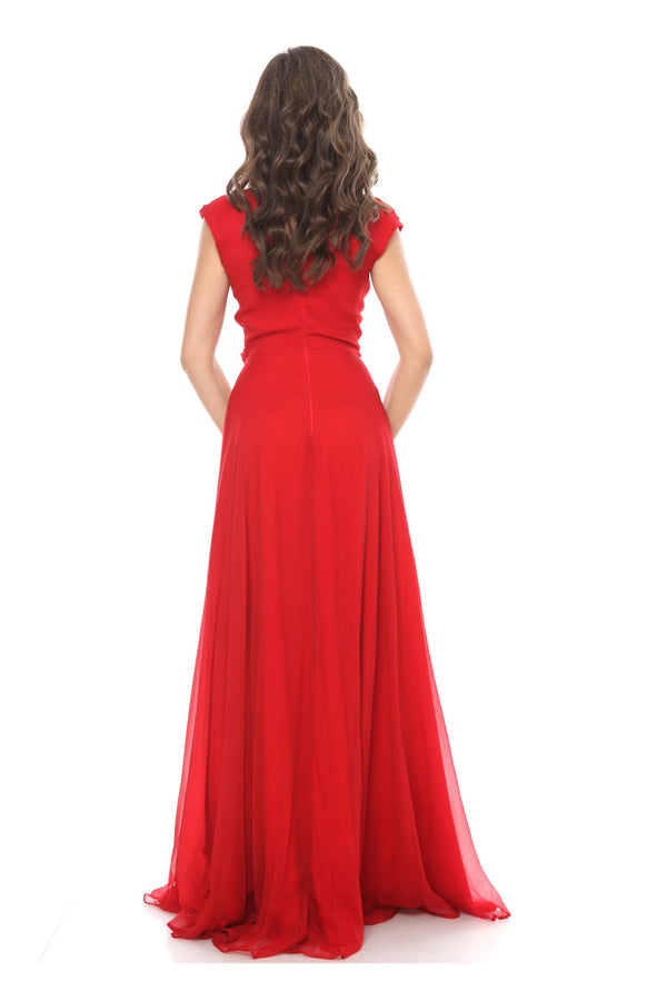 Red Whistles Silk Wrap Maxi Dress