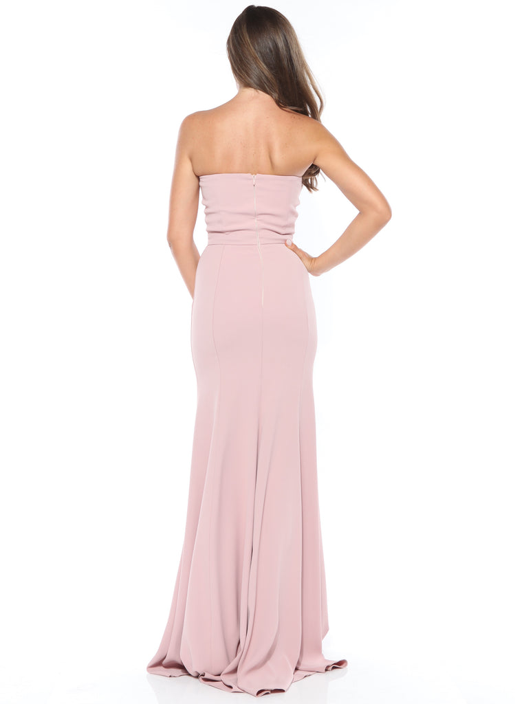 ROSERRY mermaid sweetheart split leg maxi dress in pink