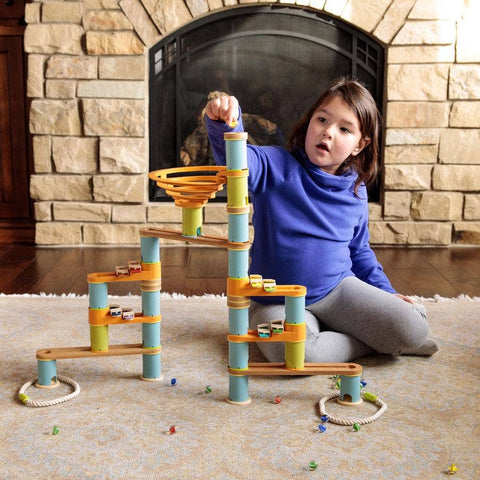 Bamboo Builder Marble Run - 127 Pieces