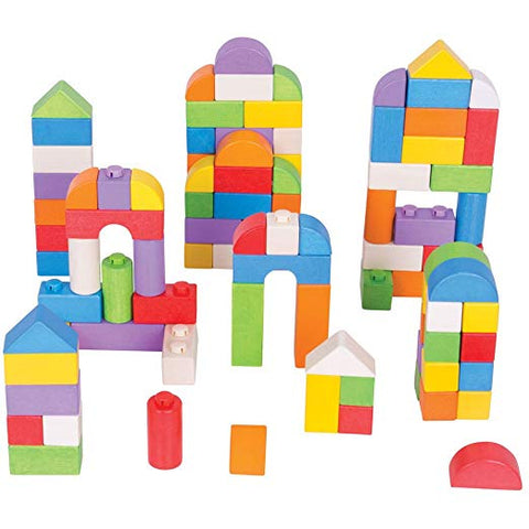 Click Blocks Colored- 100 Piece