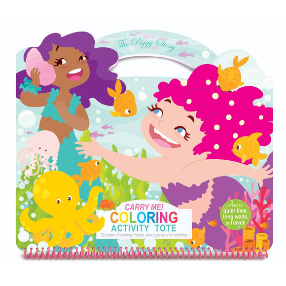 Carry Me! Coloring Activity Tote- Magical Mermaids