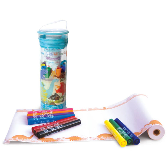 Create & Doodle Travel Set- Dinosaur World