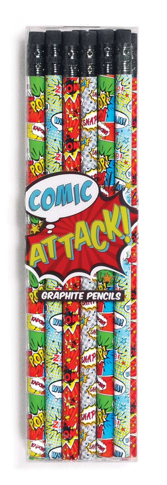 Comic Attack Graphite Pencils