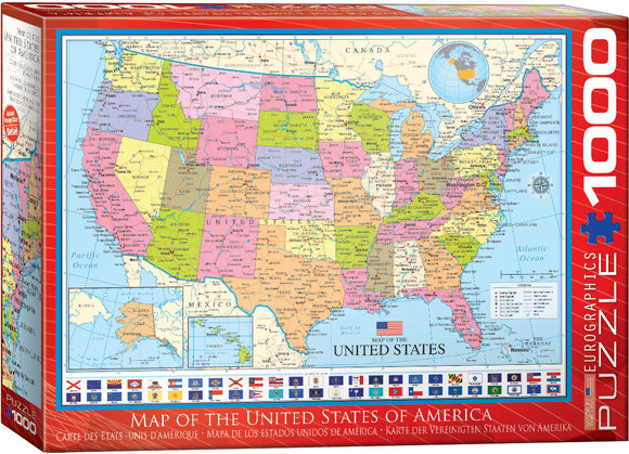 Map of the United State of America