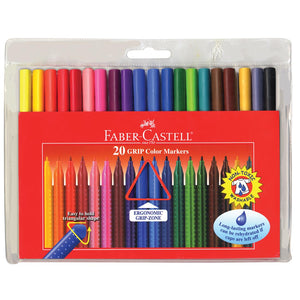 Grip Color Markers - 20 ct