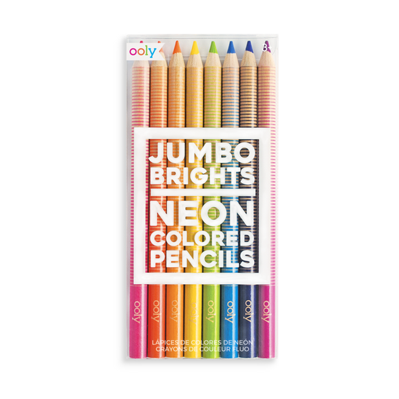 Jumbo Brights - Neon Colored Pencils