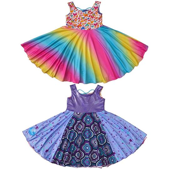 Original Reversible Twirly Dress - Galatic SuperKid