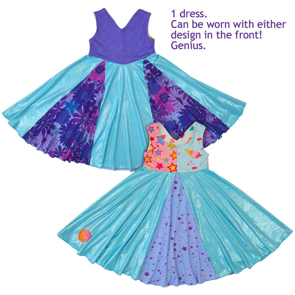 Unicorn Swirly Dress - Dancing Glitter Twinkle Toes