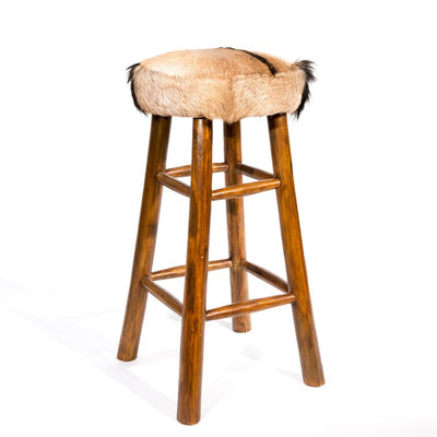Cowhide Bar Stool 80cm