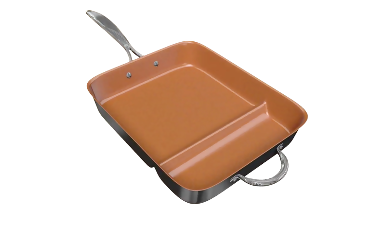 GOTHAM STEEL Side Pocket Pan | Ti-Cerama surface