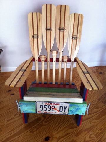 Reclaimed Wooden Chair, Paddles
