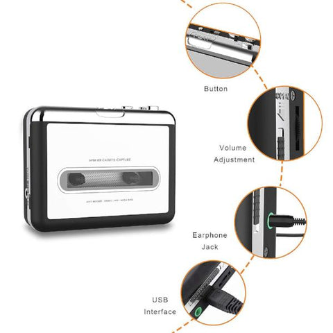 Kircuit Mini USB Cable Compatible with Wikoo Cassette Tape to MP3 CD Converter