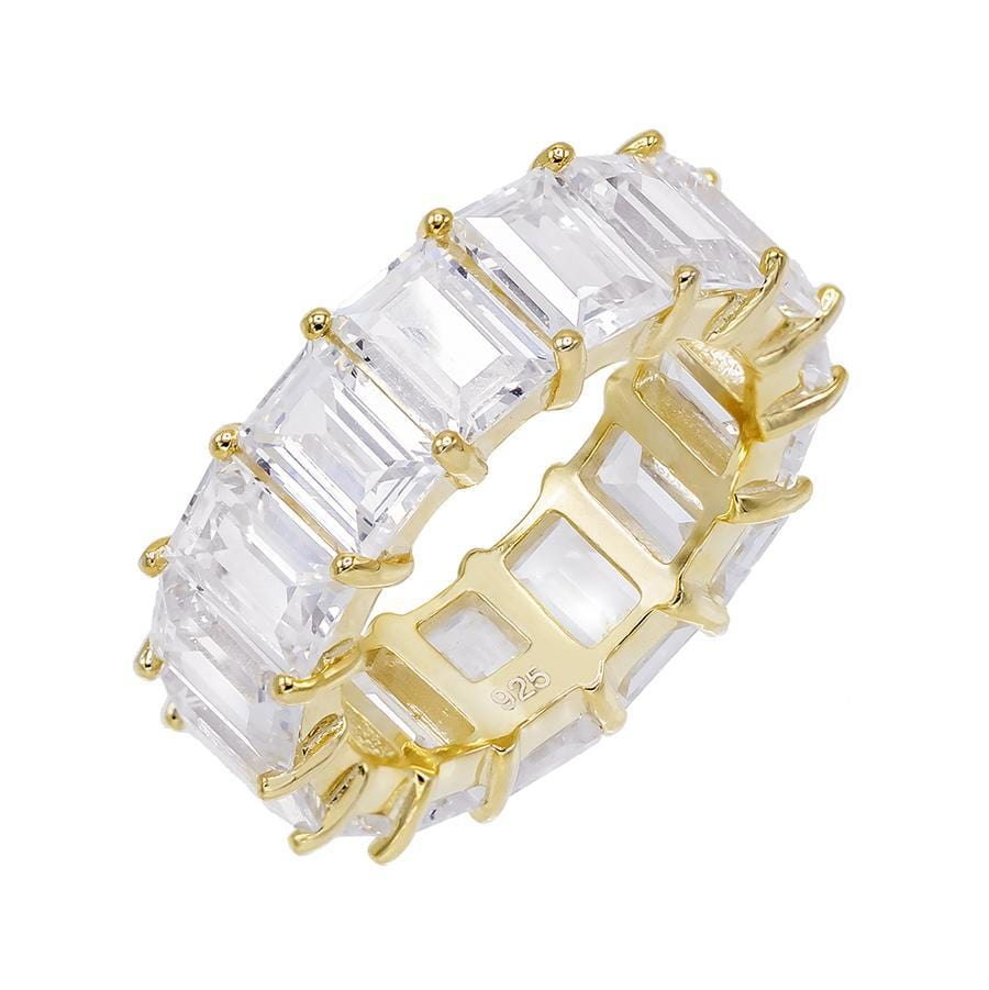 Gold Baguette Eternity Band 7mm