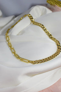 Hailey Pave Chain Link Necklace