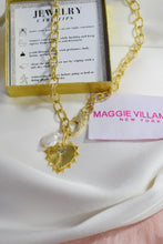 Load image into Gallery viewer, Heart Pendant Necklace on Thick Gold Chain