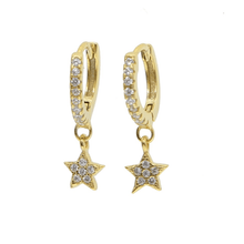 Load image into Gallery viewer, Star Huggie Earring