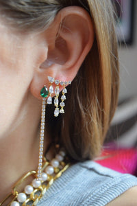 Dripping Gems Stud Earrings