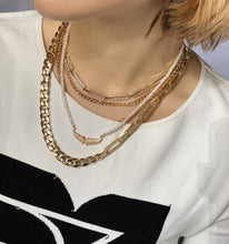 Load image into Gallery viewer, Hailey Pave Chain Link Necklace