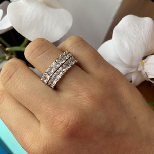 4mm Silver Glamorous Baguette Eternity Band