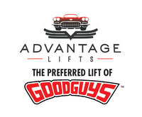 The Advantage Lifts and Goodguys Logos' announcing Advantage Lifts as the preferred lift of Goodguys.