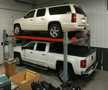 Two Cars using the Advantage 11,000 Pound Heavy Duty 4-Post Lift (set-up)