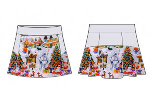 Christmas Town Skort (Cotton Lycra)