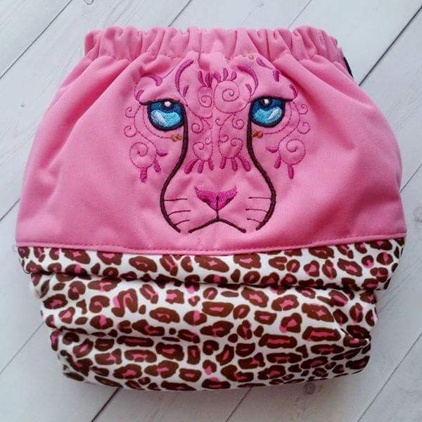 Embroidered Pink Wildcat