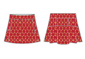 Christmas Retro Leg Lamp on Red Skort