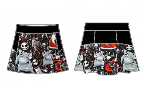 Merry Nightmare Skort (Cotton Lycra)