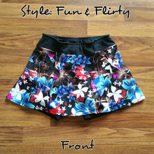Red White Blue Tropical Skort