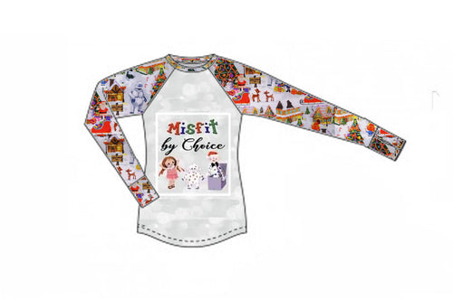 Christmas Town Long Sleeve Raglan