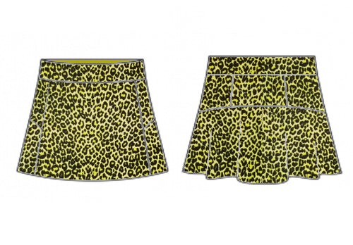 Yellow Leopard Skort