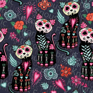Day of the Dead Cats Skort