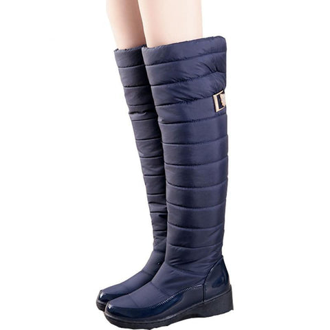 Knee High Padded Fur Boots - eStarkShop Buy electronics, fashion apparel, collectibles, sporting goods, and everything else on eStarkShop, the world's online marketplace.