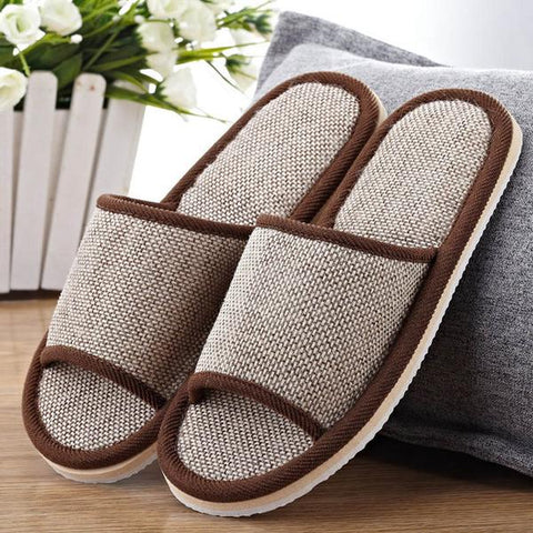Natural Flax Home Indoor Slippers - eStarkShop Buy electronics, fashion apparel, collectibles, sporting goods, and everything else on eStarkShop, the world's online marketplace.