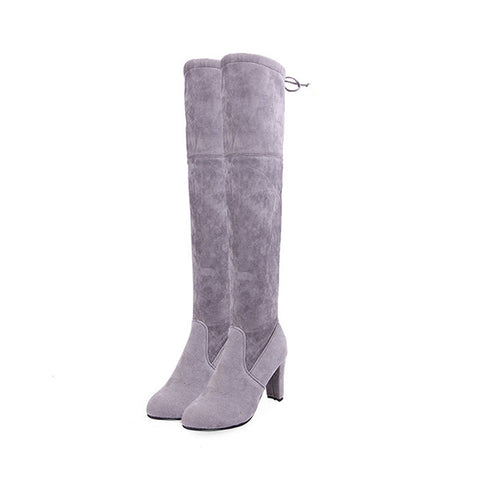 Suede Leather Thigh High Heel Boots - eStarkShop Buy electronics, fashion apparel, collectibles, sporting goods, and everything else on eStarkShop, the world's online marketplace.