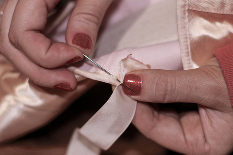 Sew pointe shoe ribbon