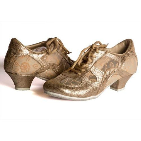 Platinum Leather/Floral Lace DNI Rocio Tango Shoe 8529