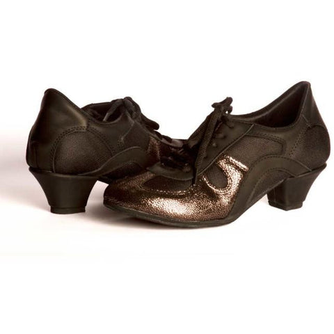 Black and Pewter DNI Rocio Tango Shoe 8533