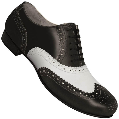 Aris Allen Men's 1930s Black and White Spectator Wingtip
