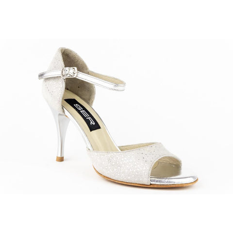Ser Beige Suede with Silver Tango Shoe