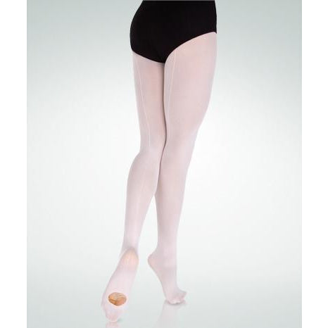 BodyWrappers Girls Ultrasoft Backseam Convertible Tights C39