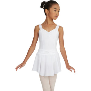 Capezio Girls Pull On Georgette Skirt with Bow