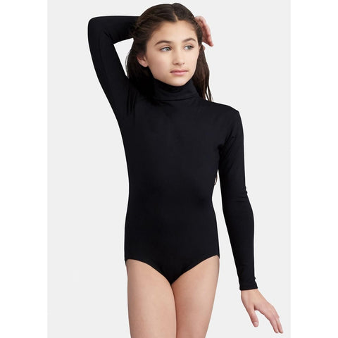 Capezio Girls Long Sleeve Turtleneck Leotard with Snaps TB123C