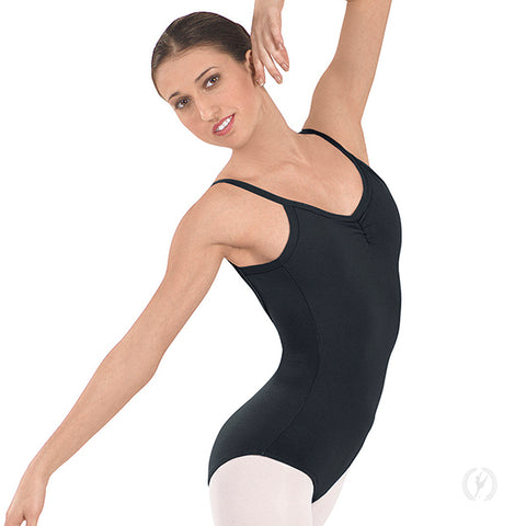 Eurotard Cotton Pinch Front Camisole Leotard 10527