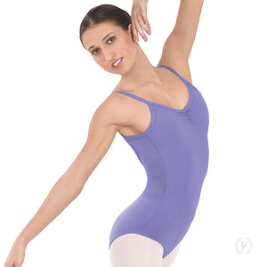Eurotard Women's Cotton Pinch Front Camisole Leotard