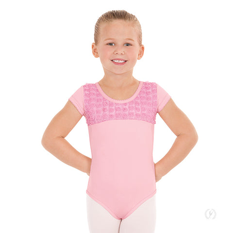 Eurotard Children's Rosette Short Sleeve Leotard