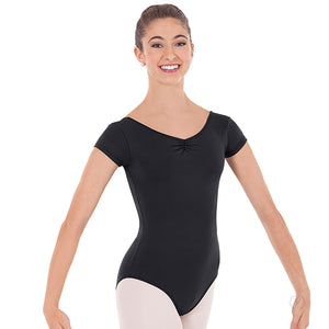 Eurotard Low Back Cap Sleeve Microfiber Leotard 44525
